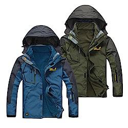 [雙12一日限定]美國熊  保暖 抗汙 防水 機能型兩件式加厚風衣