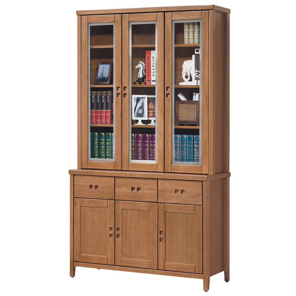 時尚屋 香杉美檜4.2尺書櫃 寬123cm