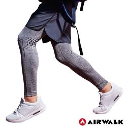 【AIRWALK】男款運動緊身長褲-共兩色