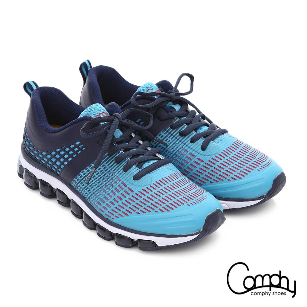 Comphy 3D霸氣囊 透氣網布奈米健走運動鞋 藍色