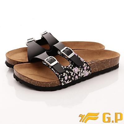 GP時尚涼拖-軟木拖鞋款-WSE82-10黑色(女段)