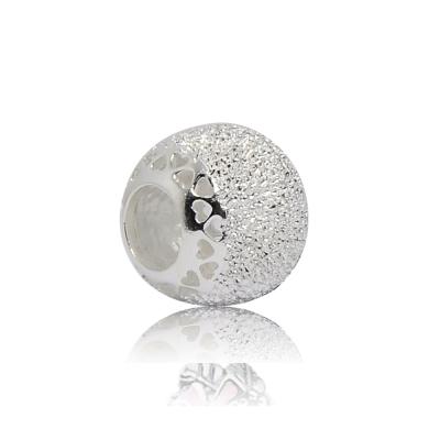 Pandora 潘朵拉  圓形閃閃發光愛心 純銀墜飾 串珠