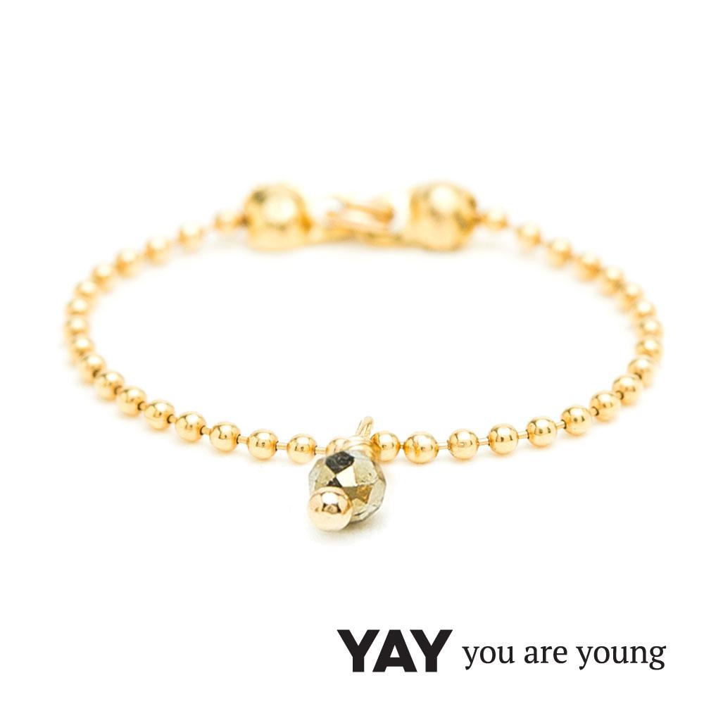 YAY You Are Young 法國品牌 Frida 寶石花束戒指 鍊戒款 金鑽