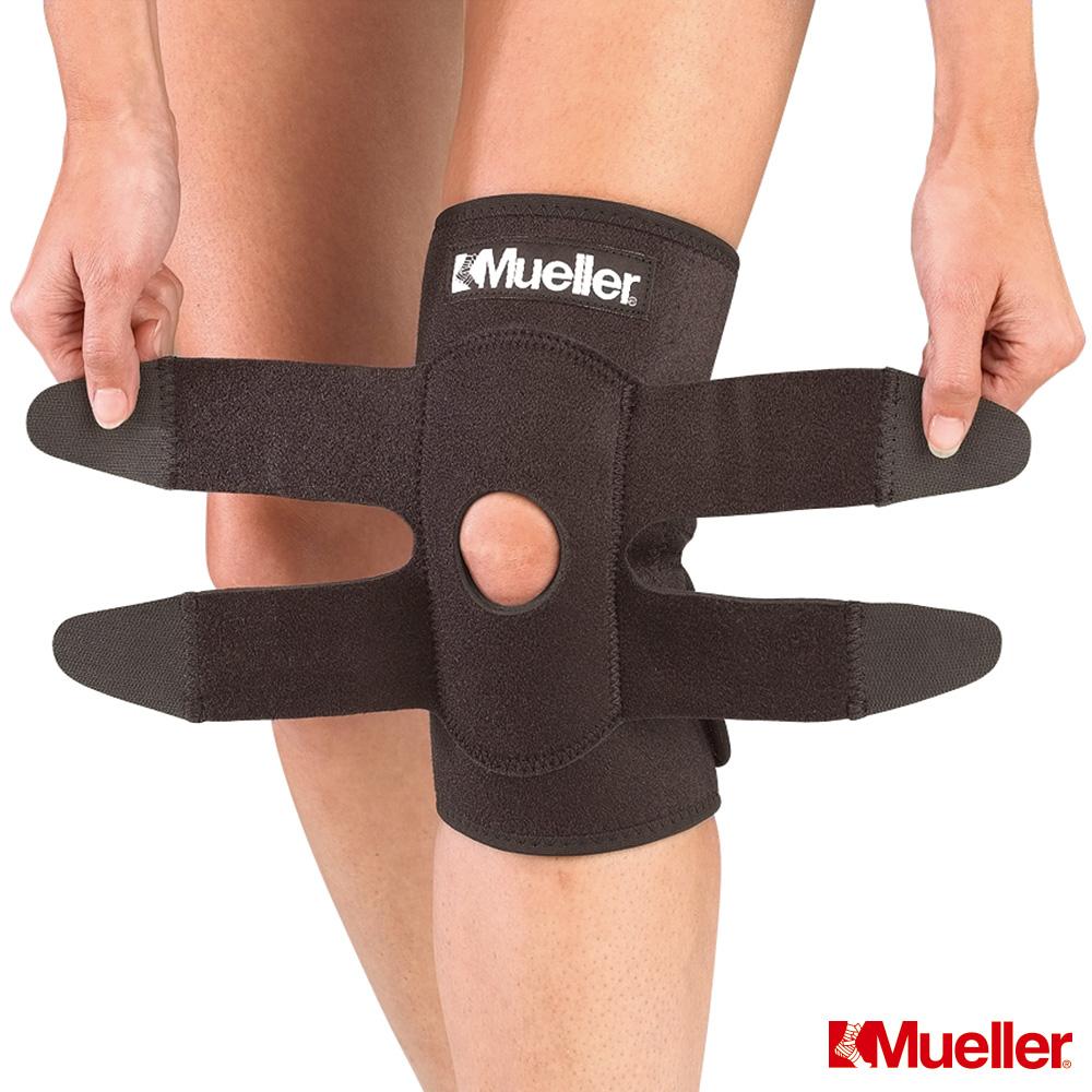MUELLER慕樂 可調式膝關節護具 黑色(MUA5453)-快速到貨