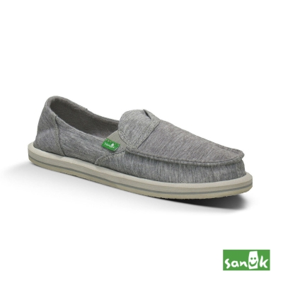 SANUK 口袋系列布面懶人鞋-女款(灰色)