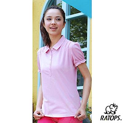 【瑞多仕-RATOPS】女款 布領休閒POLO衫_DB8352 淺粉紅 V