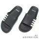 專利材質 造型休閒拖鞋-黑色 product thumbnail 1