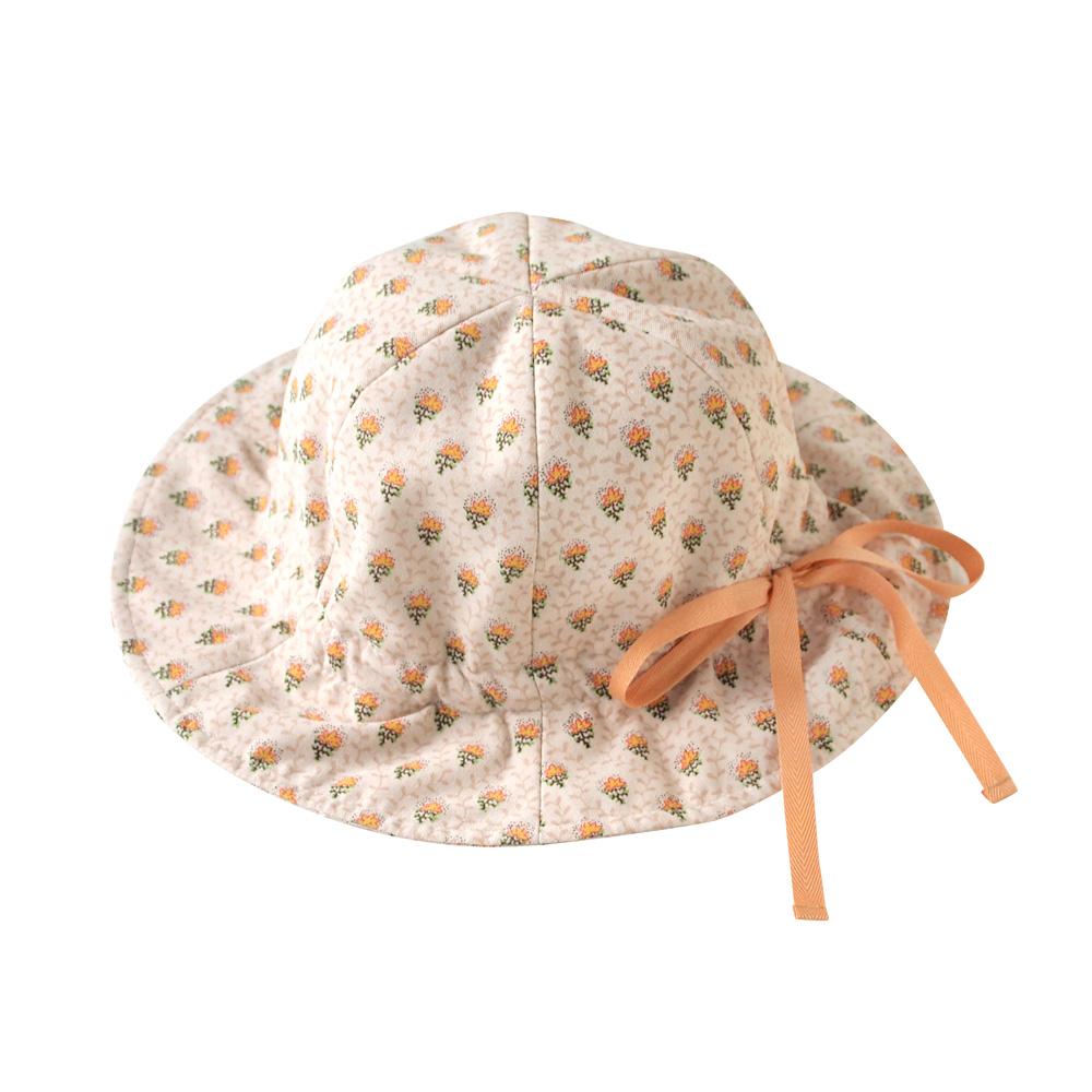 SOULEIADO 芙蓉鬱金香抽繩帽(橘)