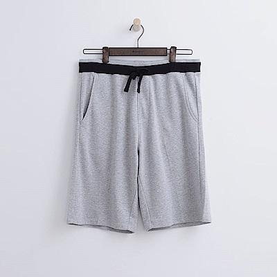 Hang-Ten-男裝-基本純色運動短褲-灰色