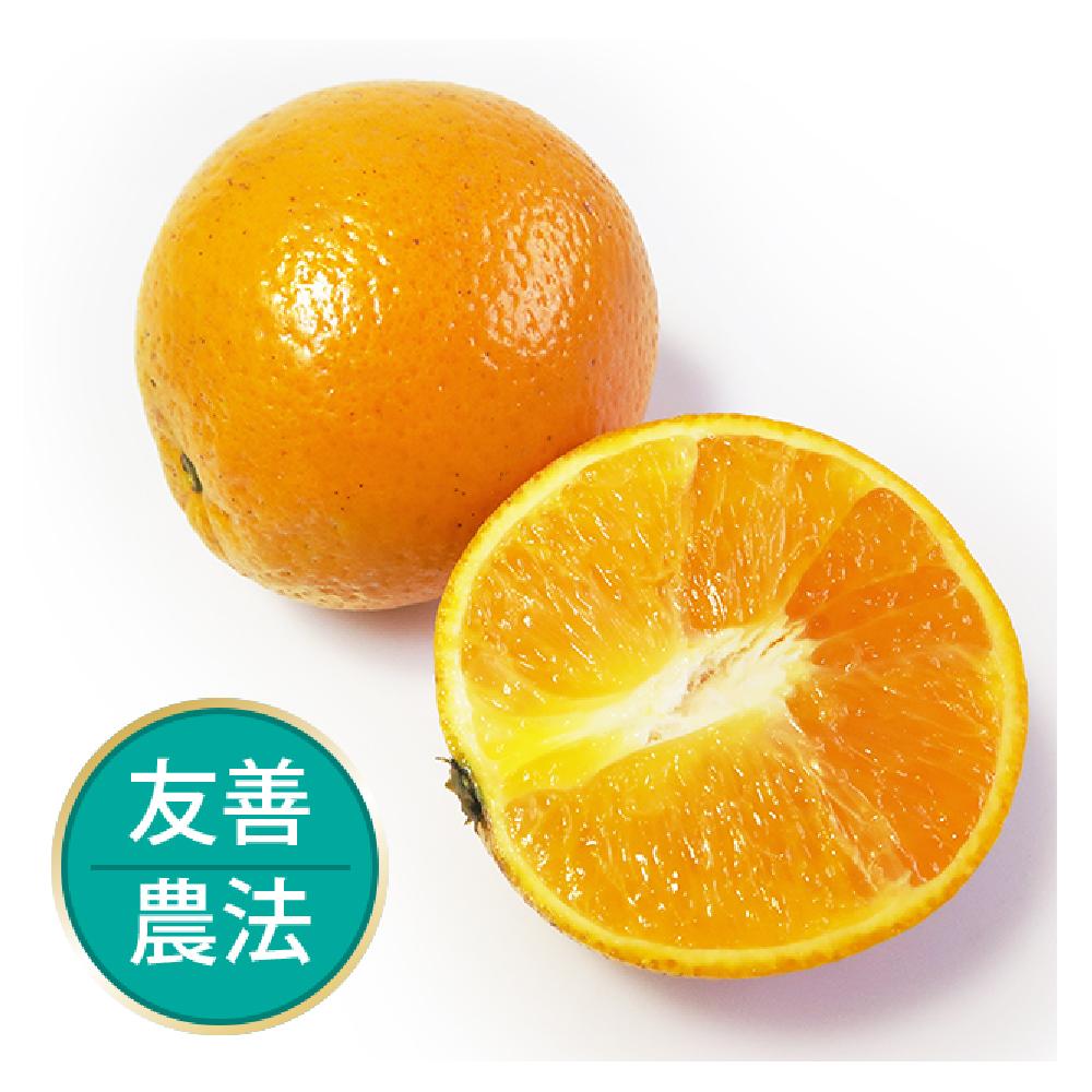【果物配-任選799免運】晚崙西亞橙.友善農法(600g/3顆)