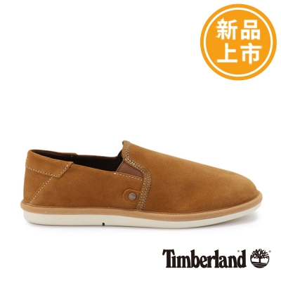 Timberland-男款咖啡色麂皮防滑便鞋