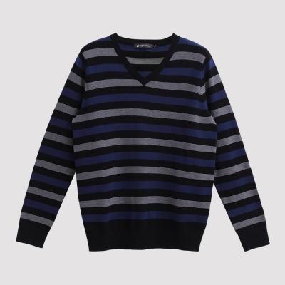 Hang Ten - 男裝 - 立體橫紋針織毛衣 - 黑