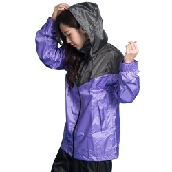 BrightDay御風者兩件式風雨衣-紫