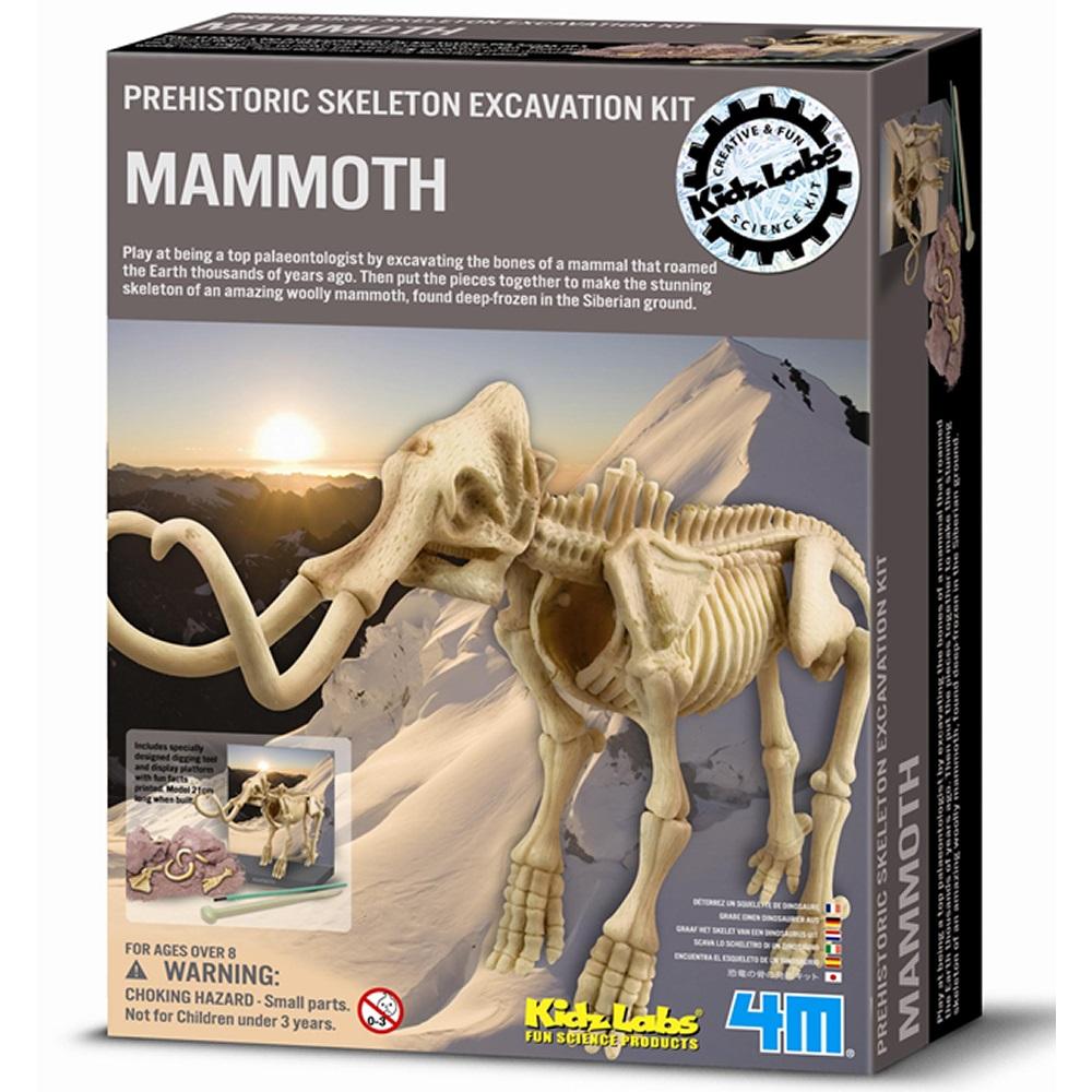 《4M挖掘考古》DIG-A-DINO SKELETTON 挖掘長毛象