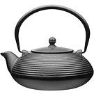 KitchenCraft 鑄鐵濾茶壺(墨黑橫紋0.9L)