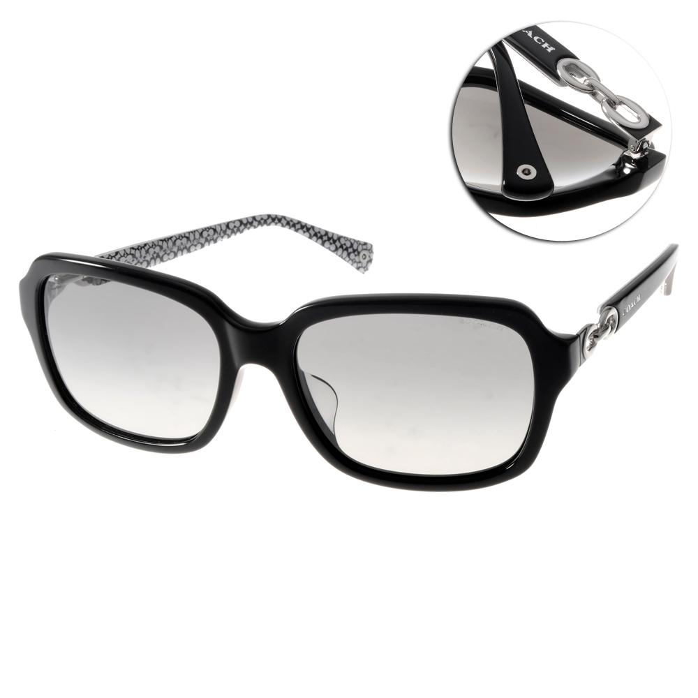 COACH太陽眼鏡 經典扣環系列/黑#COS8104F 521411 @ Y!購物