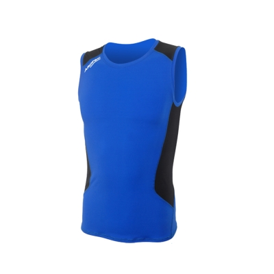 AROPEC Compression II 男款運動機能壓力衣 背心 藍/黑