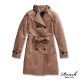 ROUSH 女生韓版綁帶雙排釦風衣外套 (2