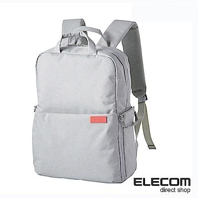 ELECOM 帆布多功能後背包S035(L)-杏仁白