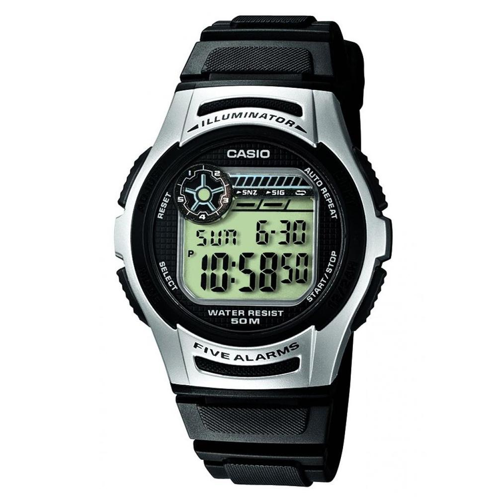 CASIO 元氣小子休閒數字錶(W-213-1A)-黑