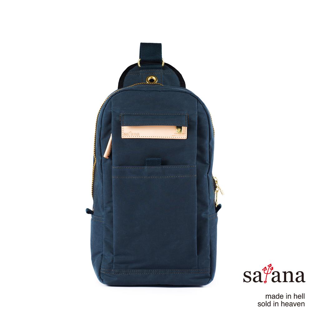 satana - 街頭時尚斜肩包 - 午夜藍