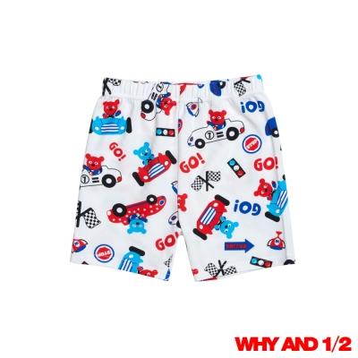 WHY AND 1/2 普普熊賽車家居褲 白色2Y~10Y