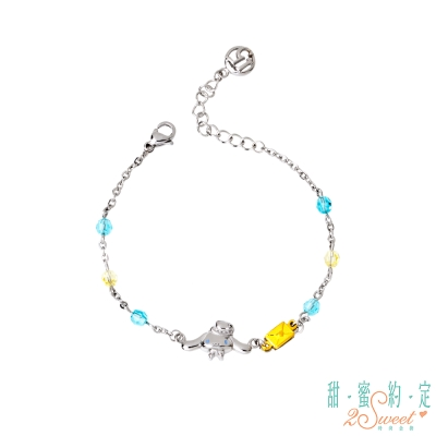甜蜜約定2SWEET 小情話大耳狗黃金/白鋼/水晶手鍊