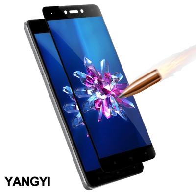 揚邑 小米 紅米 Note 4X 5.5吋 滿版鋼化玻璃膜3D弧邊防爆保護貼-黑