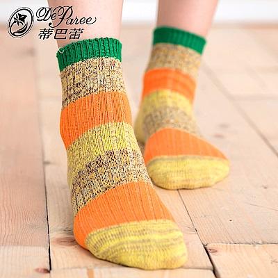 蒂巴蕾 流行女棉襪-美式條紋