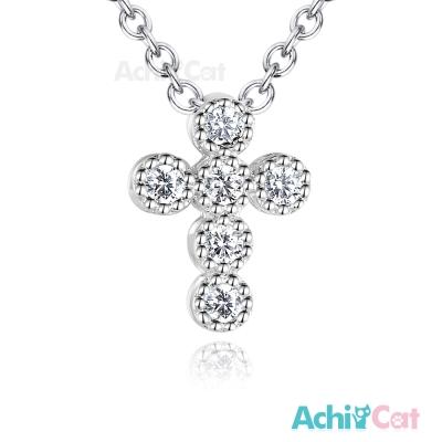 AchiCat 925純銀項鍊 虔誠信仰 鎖骨鍊