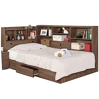 品家居 凱倫3.5尺收納床台側櫃組合(不含床墊)-130x211x104.5cm免組