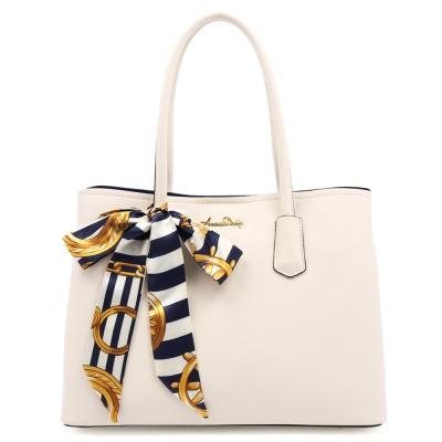 ANNA DOLLY 後菜鳥的燦爛時代通勤公事包(輕米白)+絲巾(水手藍)