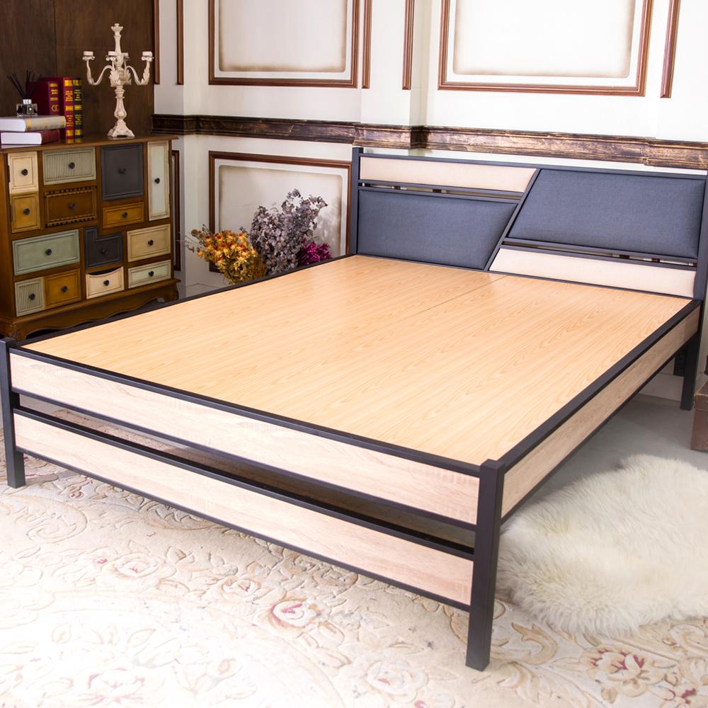 時尚屋 凱弟貓抓皮3.5尺加大單人黑鐵床