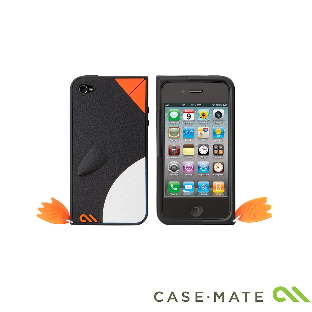 Case-Mate iPhone 4 Waddler Case 企鵝保護套(黑色企鵝)