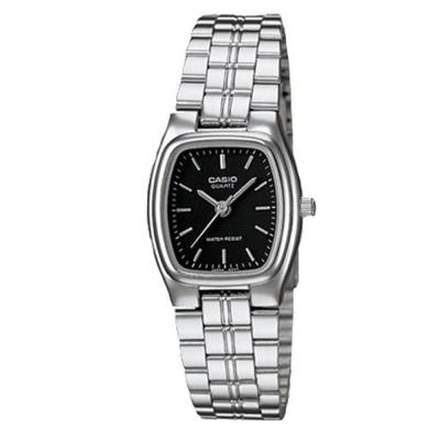 CASIO 酒桶造型指針淑女錶(LTP-1169D-1A)-黑色/20x22mm