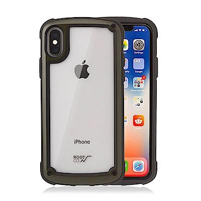 ROOT CO iPhone Xs/X Tough & Basic 抗衝擊軍規保護殼 (軍綠)