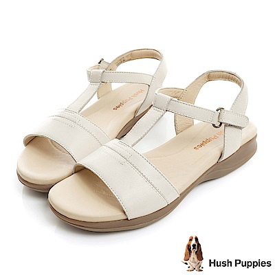 Hush Puppies HART 舒適減壓T字涼鞋-米白