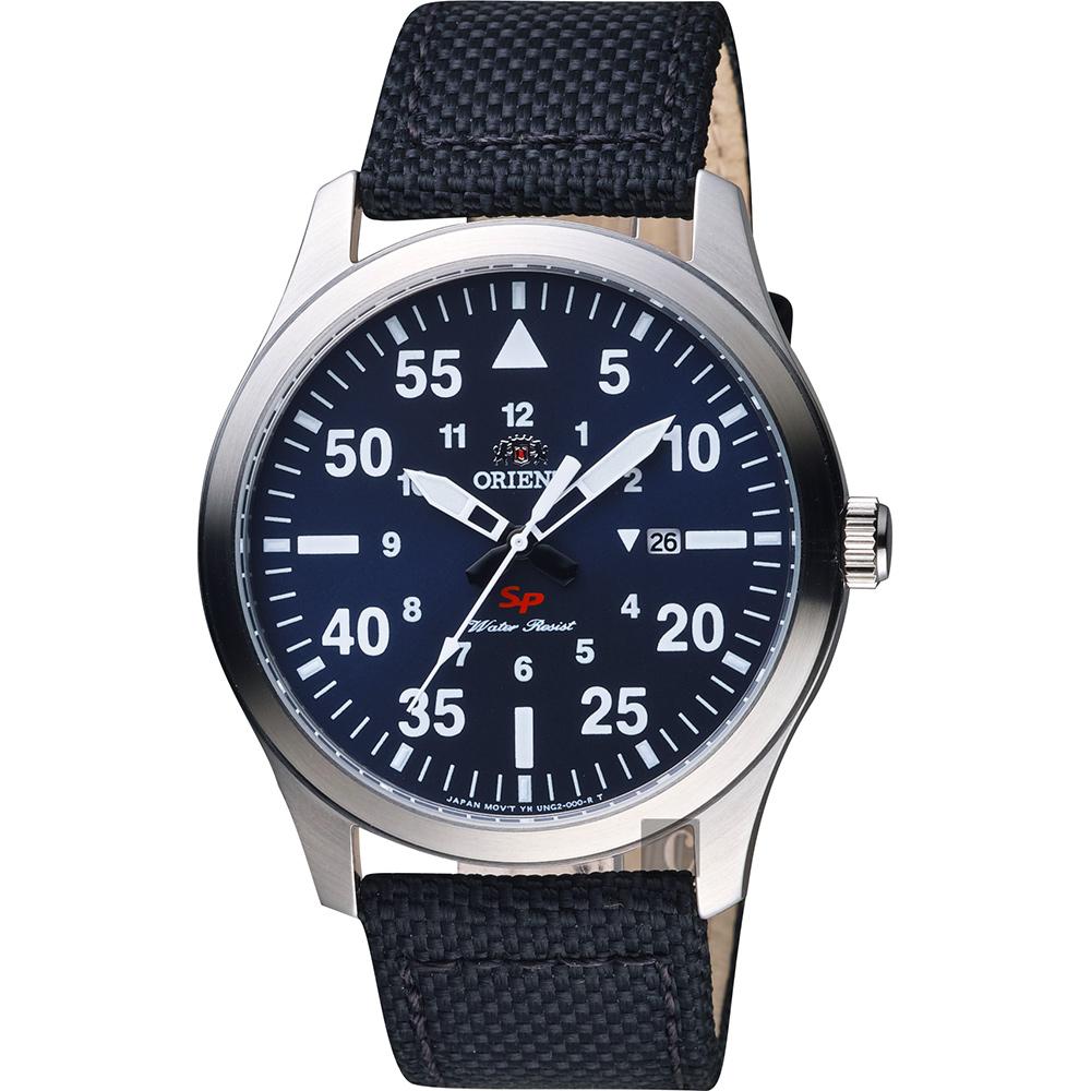 ORIENT東方 SP 飛行運動石英錶-藍x黑/42mm