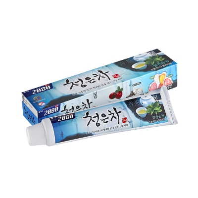 韓國2080 清齦茶-韓方護齦茶牙膏.青茶120gX3入