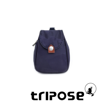 tripose  漫遊系列迷彩印花鑰匙零錢包 - 深藍
