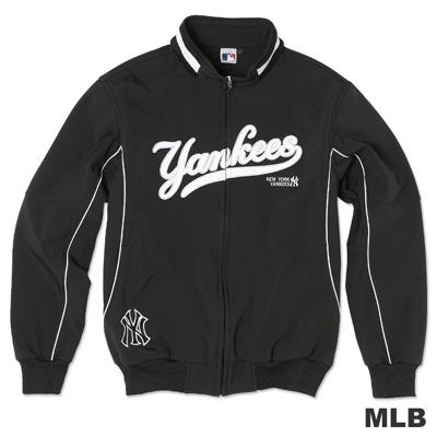 MLB-紐約洋基隊淺水布棒球外套-黑(男)