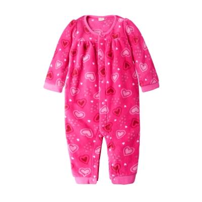 baby童衣-寶寶連身服-女童連身爬服-搖粒絨前開爬服50692
