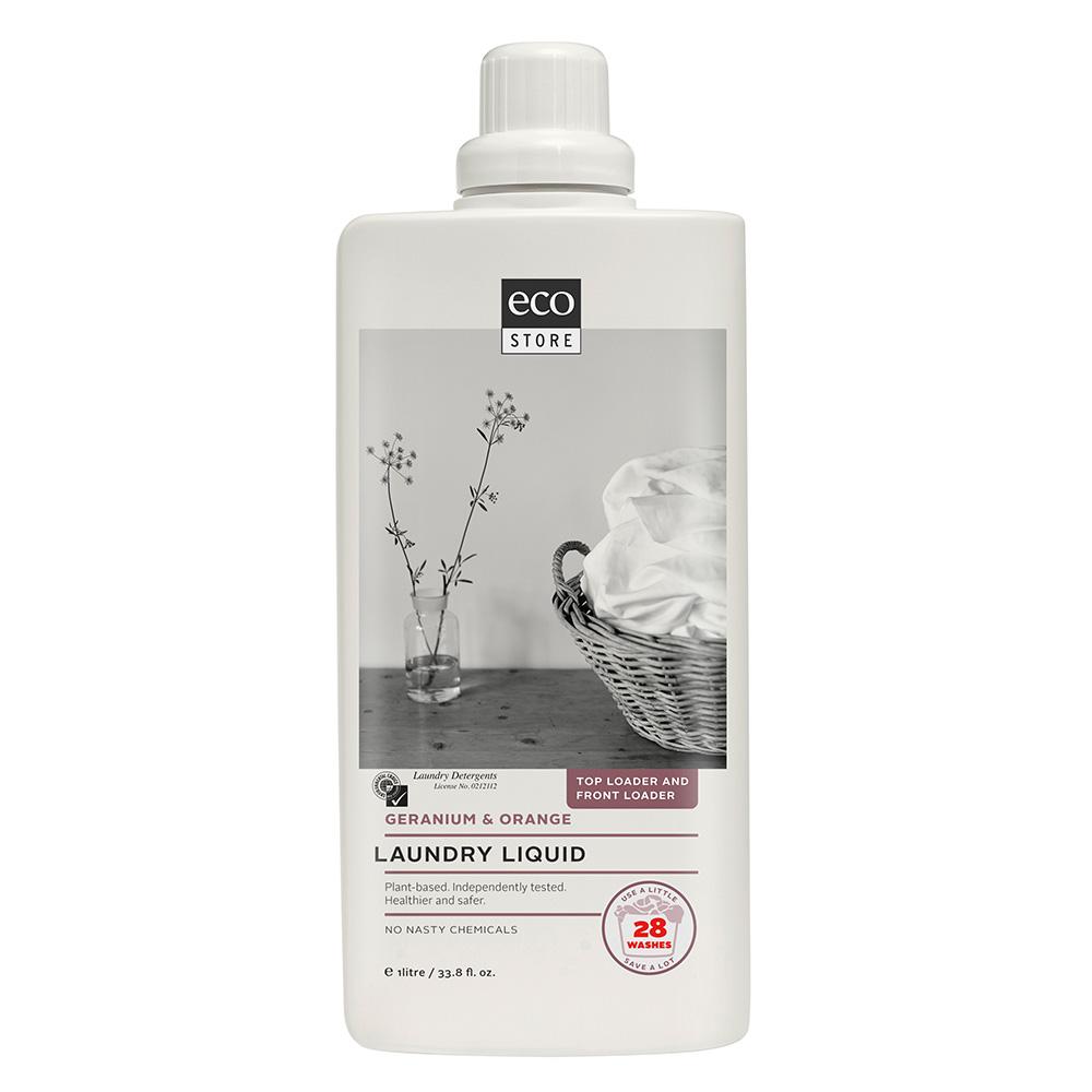 紐西蘭ecostore 超濃縮環保洗衣精-柑橘天竺葵 1L