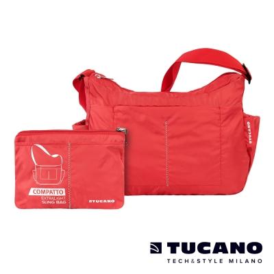 TUCANO COMPATTO 超輕量防水尼龍折疊收納側背包-紅