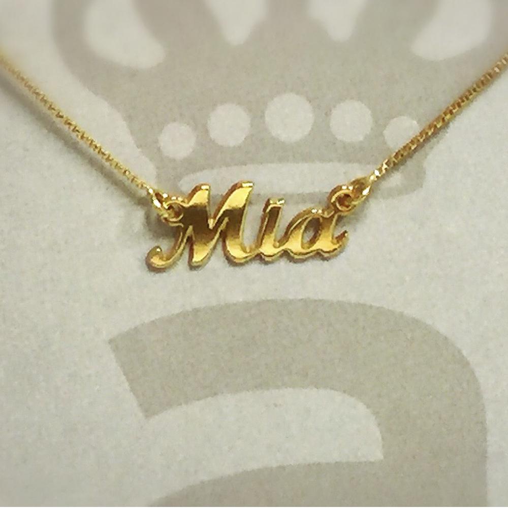 Anna Lou Of London 倫敦品牌 MIA 英文名字金色項鍊