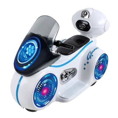 寶貝樂 星際戰警炫光漂浮車手控電動車-白色