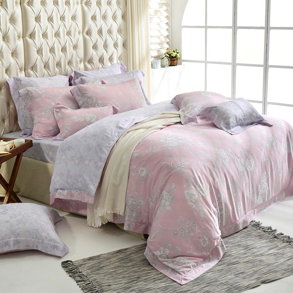 義大利La Belle 雙人天絲防蹣抗菌吸濕排汗兩用被床包組-夢幻仙境