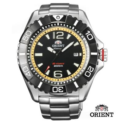 ORIENT 東方錶 M-FORCE系列 鈦金屬200m潛水機械錶-黃色/47mm