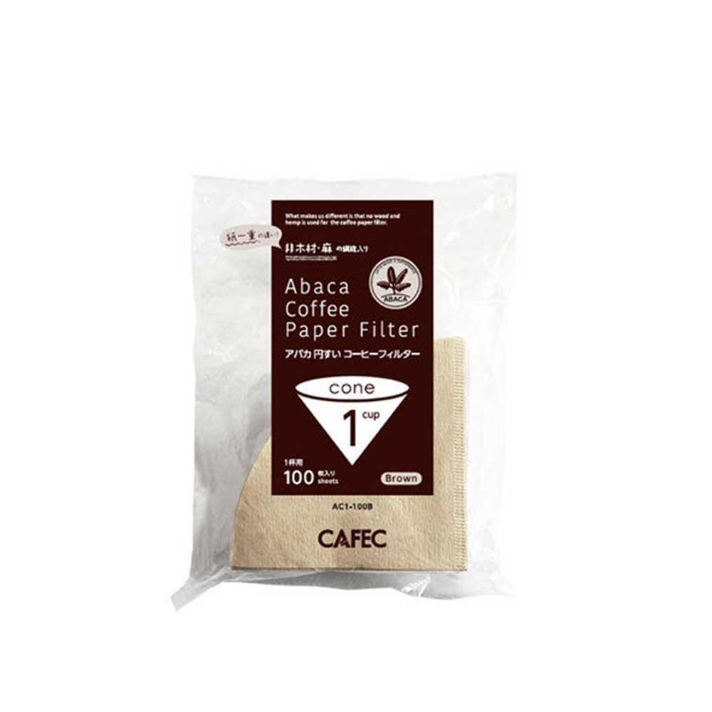 CAFEC AC1-100B V01麻纖維咖啡濾紙100入*2包-(HG5002*2)