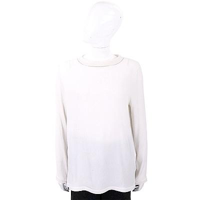 FABIANA FILIPPI 喀什米爾銀邊細節白色美麗諾羊毛衫